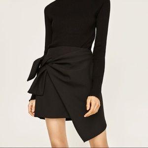 Zara Knotted Mini Skirt